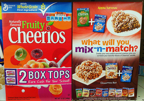 Box Tops for Education Breakfast Cereal Packages